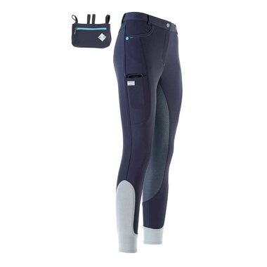Euro-Star ESX Ci 1 Journey KneeGrip ratsastushousut, Navy/Turkoosi, 40